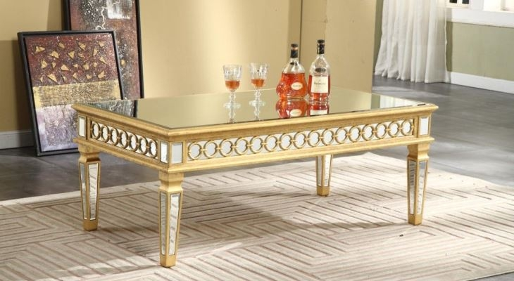 Beau Antique Mirrored Coffee Table Foter