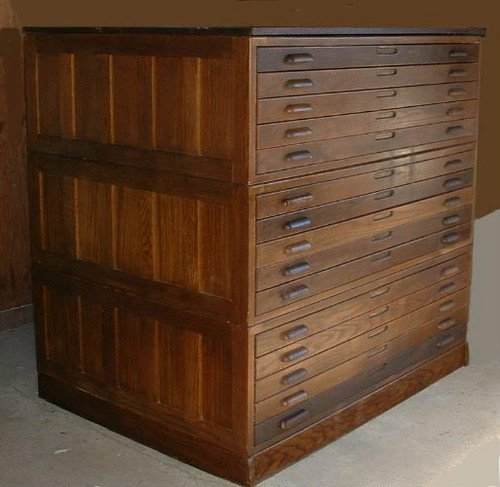 Exceptionnel Flat File Cabinet Wood
