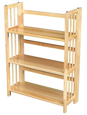 Folding stacking bookcase