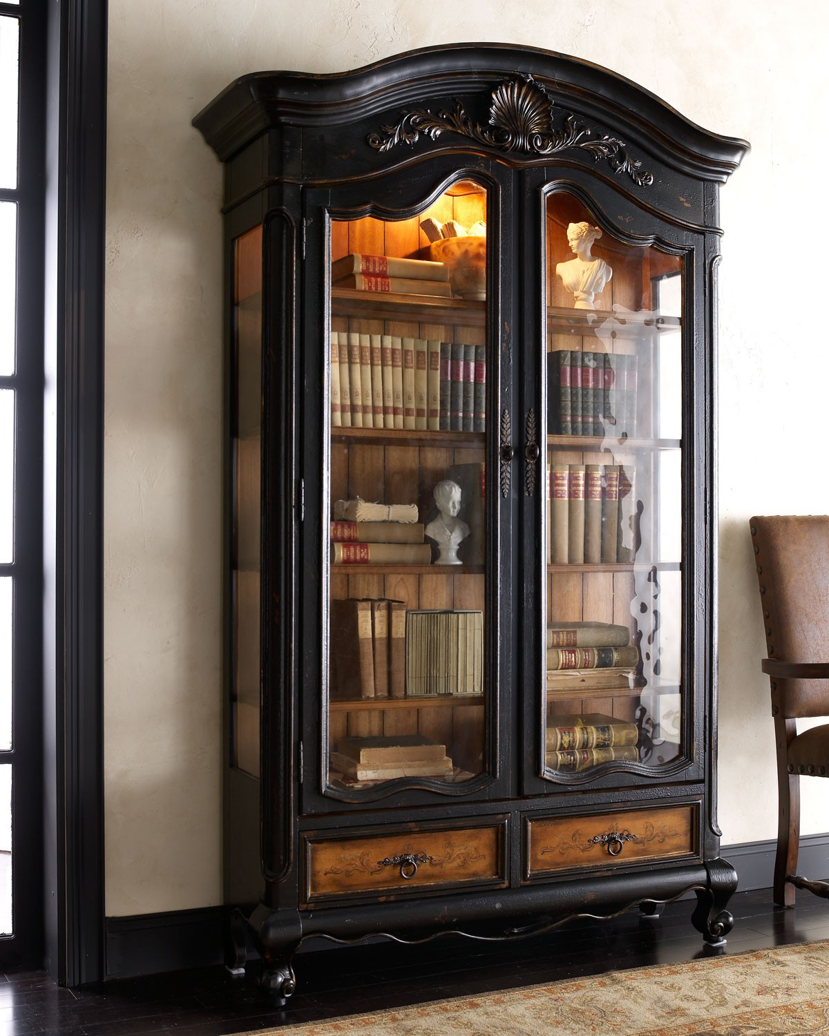 Charmant Glass Curio Cabinets