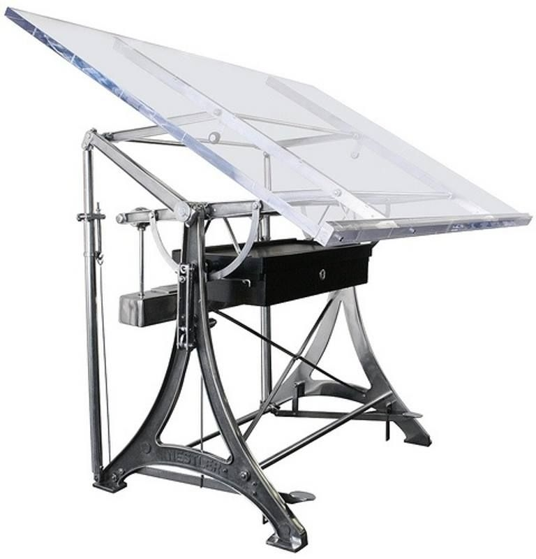Charmant Glass Drafting Table 1