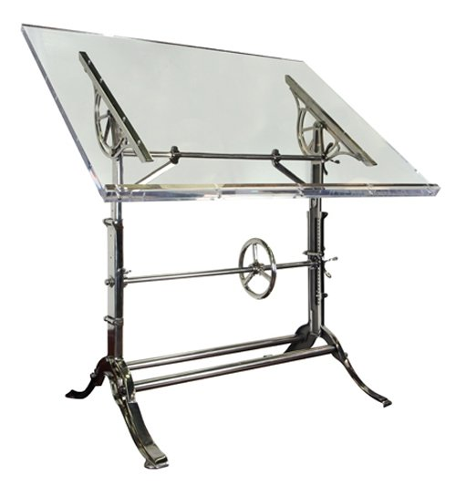 Beau Glass Drafting Table 5