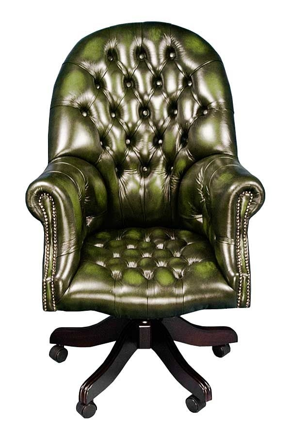 Green Leather Desk Chair