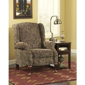 High Leg Recliner in Pasiley Pattern by Ashley