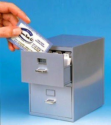 Superieur Index Card File Cabinet