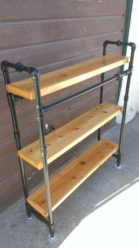 Industrial pipe bookcase or closet