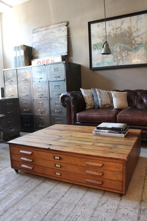 Flat file cabinets foter industrial sofa table malvernweather