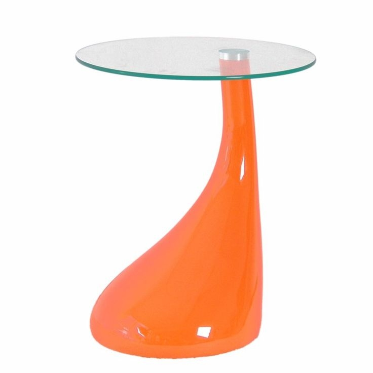International Design USA Jupiter Coffee Table, Orange