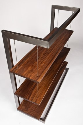 Modern industrial suspended walnut