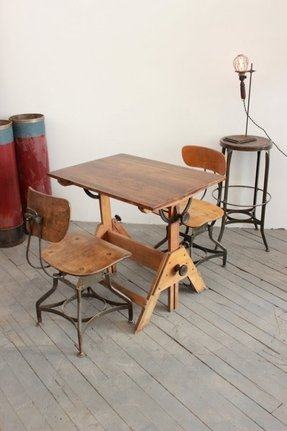 Oak drafting tables