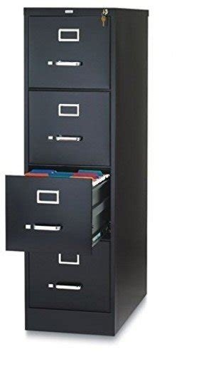 "OfficeMax Four-Drawer Commercial Vertical File, 26-1/2"" D, Letter Size, Black"