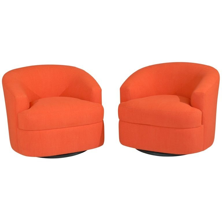 Orange Swivel Chairs 1