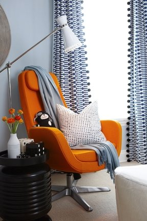 Orange swivel chairs 3