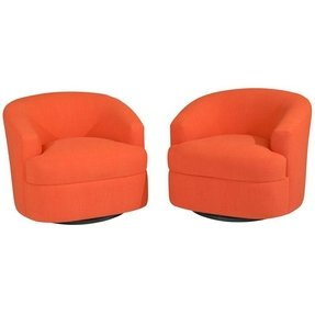 Orange swivel chairs 5