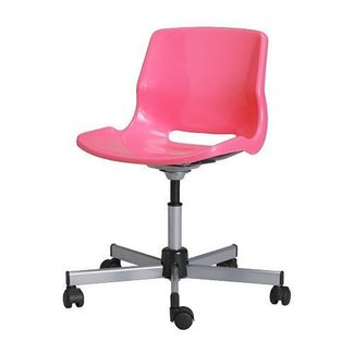 Pink office chair with arms