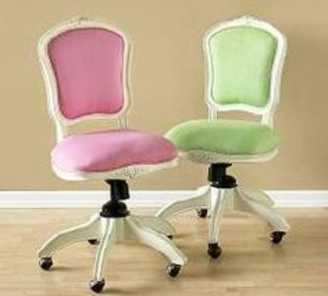Pink swivel chair 2