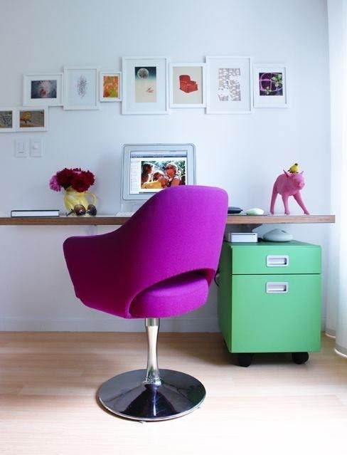 Purple Swivel Chair 1