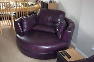 Merveilleux Purple Swivel Chairs