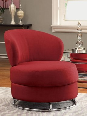 Red swivel chairs 2