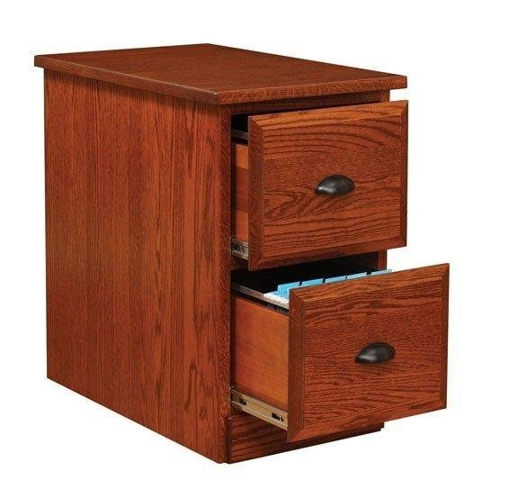 Exceptionnel Solid Wood File Cabinet 2 Drawer