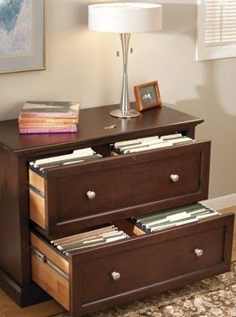 Solid wood lateral file cabinet 599