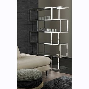 Stainless steel bookcases 1