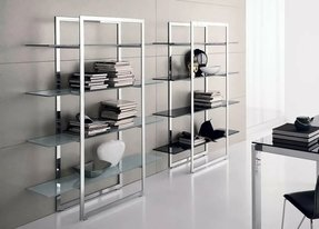 Stainless steel bookcases 2