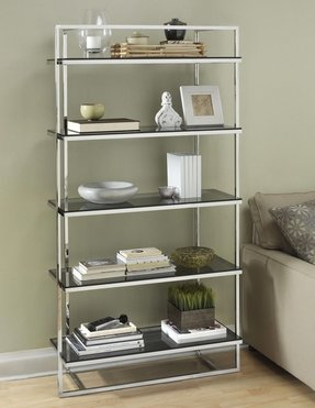 Stainless steel bookcases