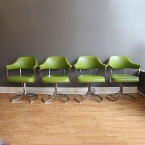 Swivel Dining Chairs With Arms