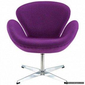 Superieur Theva Swivel Chair. Purple Chairs