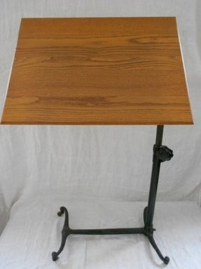 Vintage oak drafting table 1