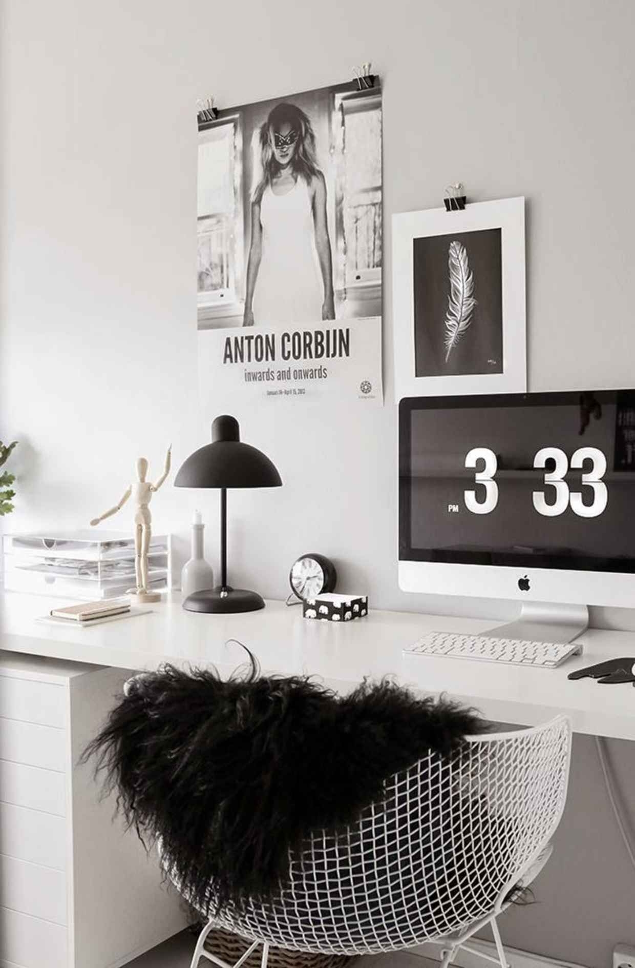 Charmant White Home Office Desks 9