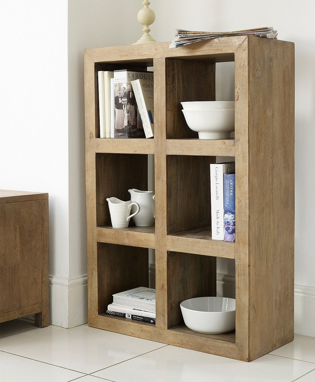 Wooden cube bookcase