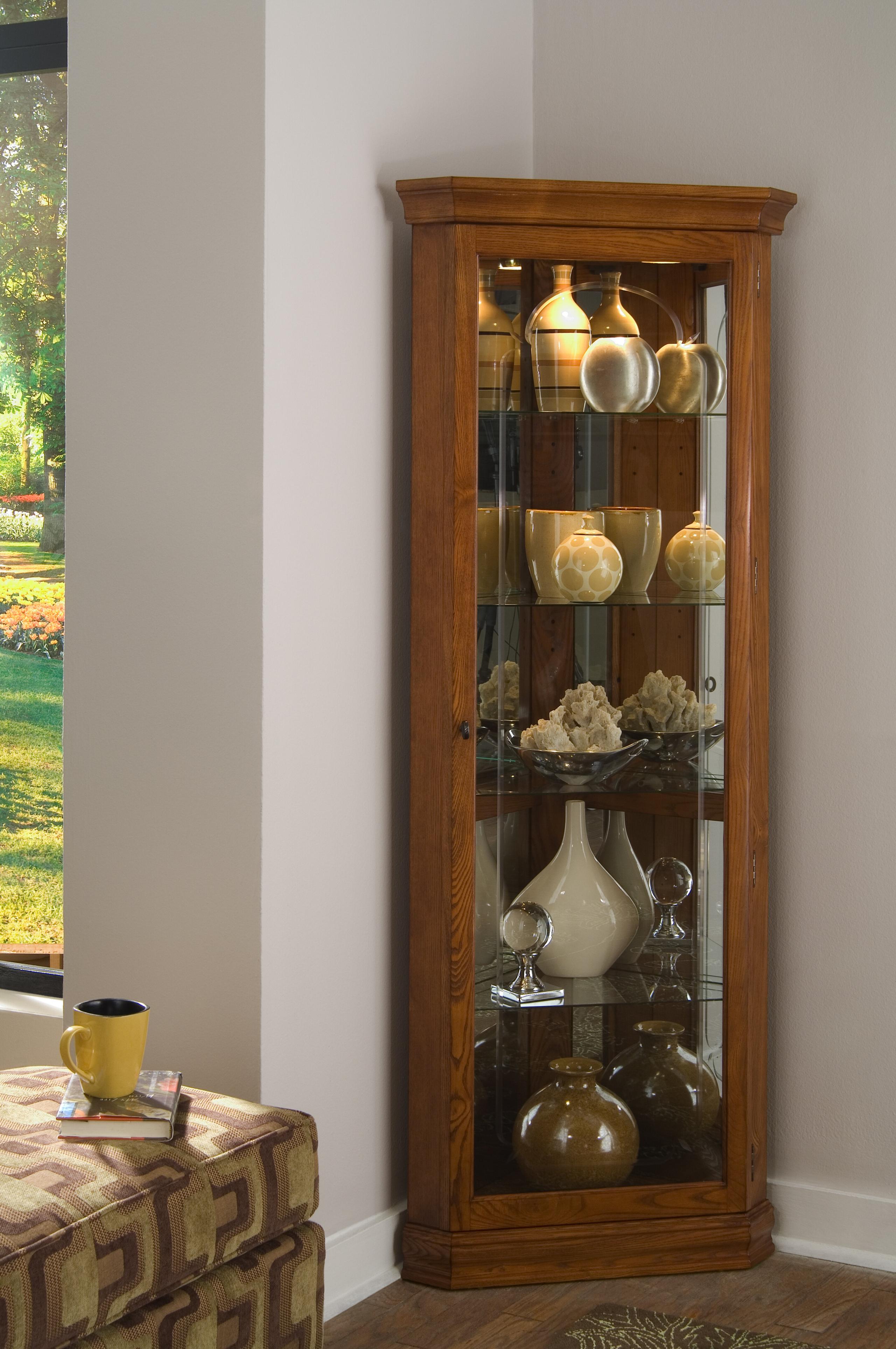 Antique Curio Cabinet Curved Glass