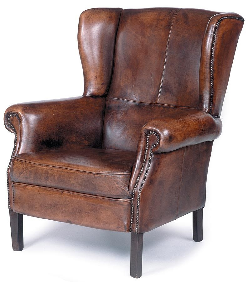 Beau Antique Leather Chair