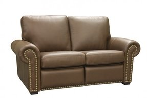 Aurora leather loveseat recliner