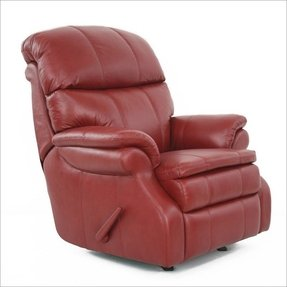 Baron ll leather recliner in stargo red by barcalounger 6
