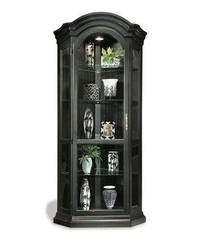 glass black modern cabinets corner cabinet ideas design decors curio
