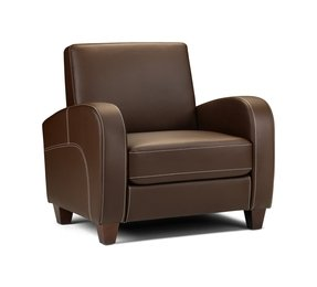 Brown leather armchair 142