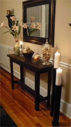 Large Foyer Tables : Foyer table and mirror set foter