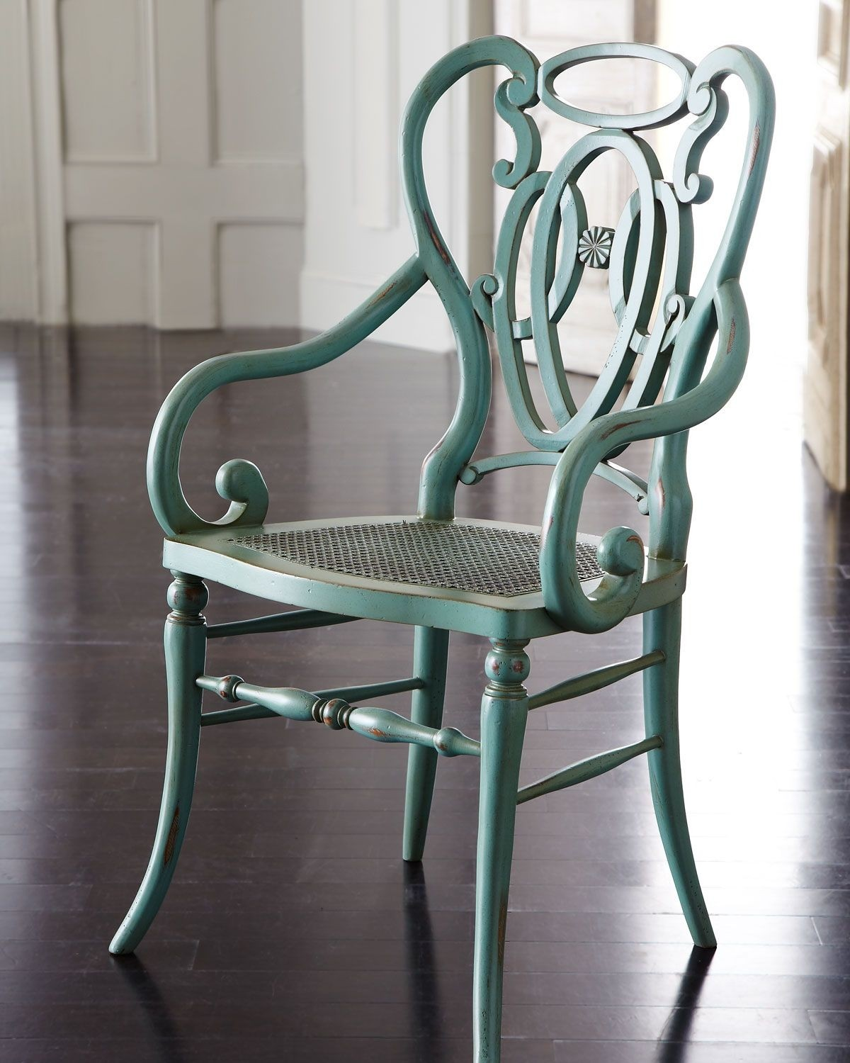Green scroll armchair traditional armchairs