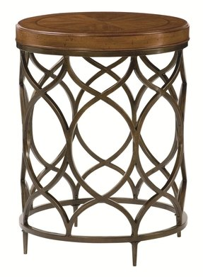 Hammary Hidden Treasures Bronze Round Accent Table