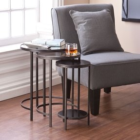 Holly & Martin Holly & Martin Ocelle 3 Piece Nesting Tables - Black