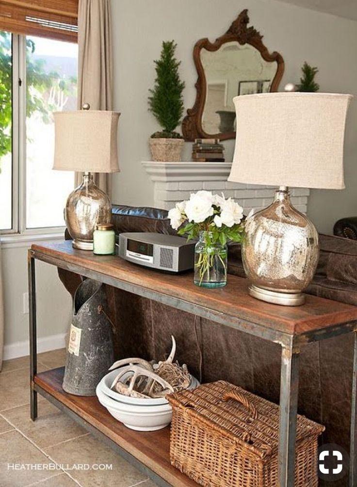 Delightful Industrial Sofa Table