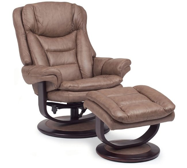 Lane Impulse 18540 Leather Swivel Recliner With Ottoman