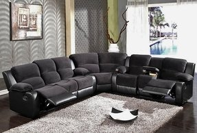 Lane sectional sofa with recliner