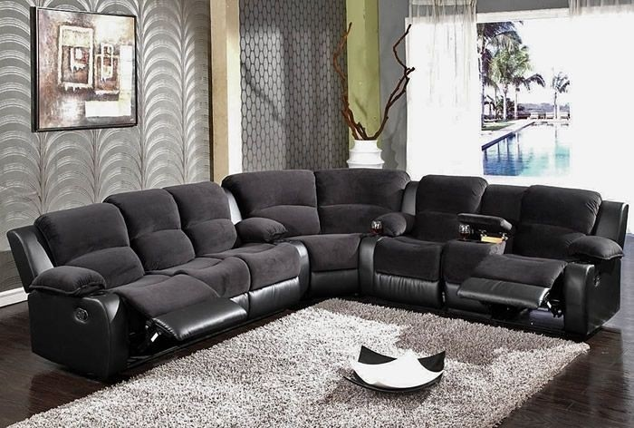 Charming Lane Sectional Sofa With Recliner
