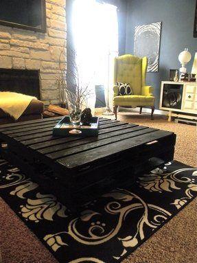 Large black coffee table