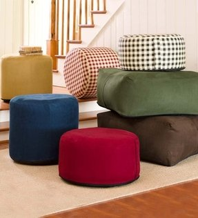 Large Round Inflatable Indoor Ottoman Pouf