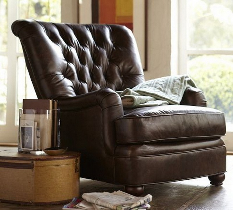 Leather occasional chairs